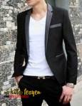 Blazer Pria Korean Style (Black Grey 03)