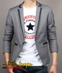 Blazer Silver Grey Stylish (J-01 Grey)