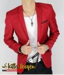 Blazer Pria Merah Berani (Pured 01)